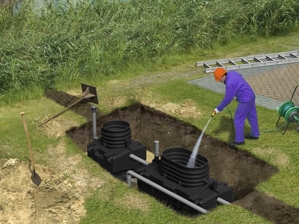 How is our sewage treatment plant installed?