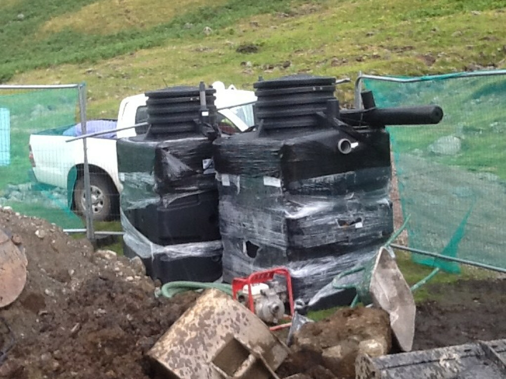 Septic Tank Replacement At A Small Campsite And Youth